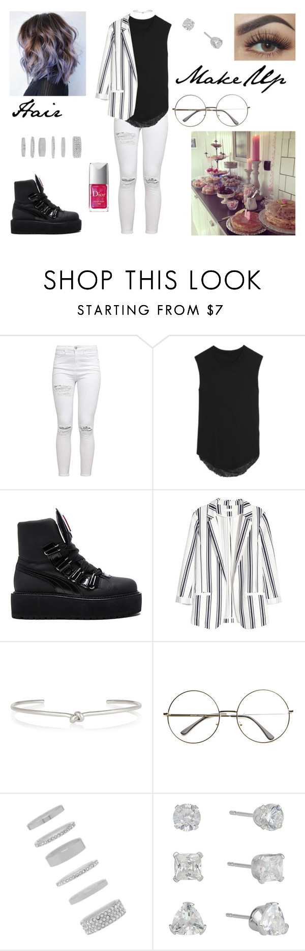 """My best friend's Birthday!"" by milena-serranista ❤ liked on Polyvore featuring Raquel Allegra, Puma, H&M, Jennifer Fisher, Forever 21 and Christian Dior"