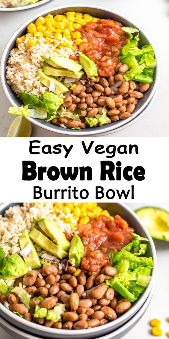 6-Ingredients Brown Rice Burrito Bowl