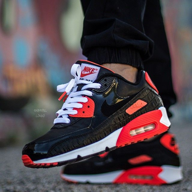 buy nike air max 90 infrared croc flat