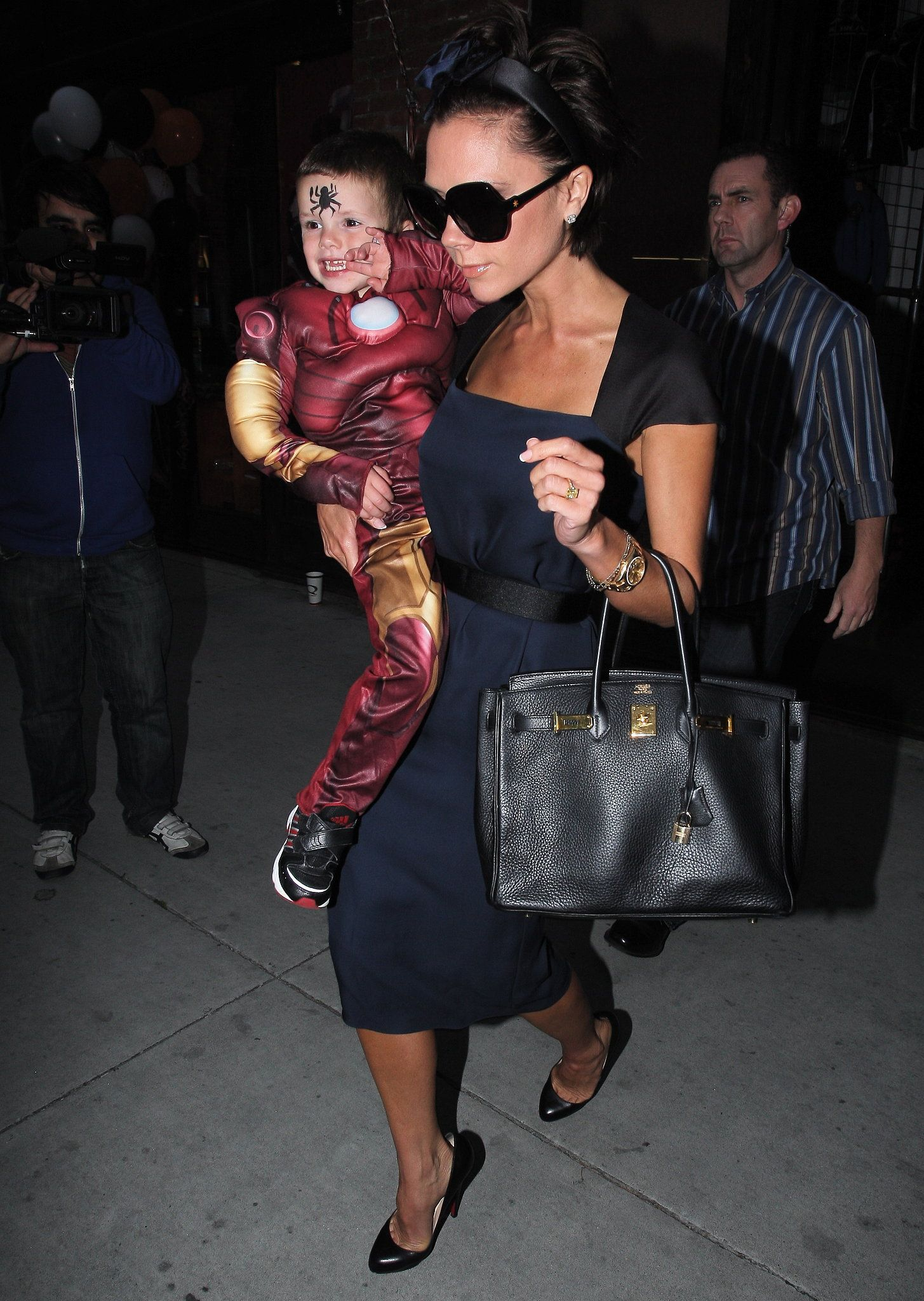 Costume-loving Cruz dressed up for his February 2009 birthday party in LA with mom Victoria Beckham.