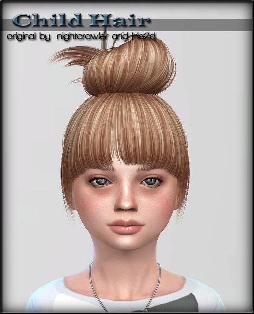 Sims 4 Ccs The Best Hair For Child By Shojoangel Stuff