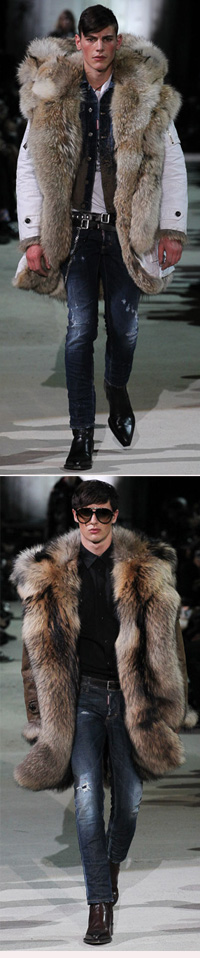 Dsquared² F/W 2015 #MFW #MCM | Talk about a statement parka. Feck you global warming.