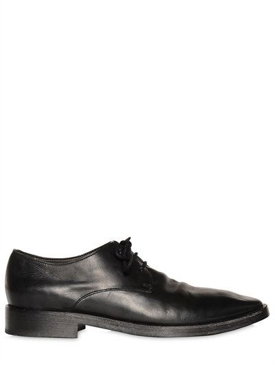 Washed-leather Derby Shoes - BlackMarsèll RlFNP