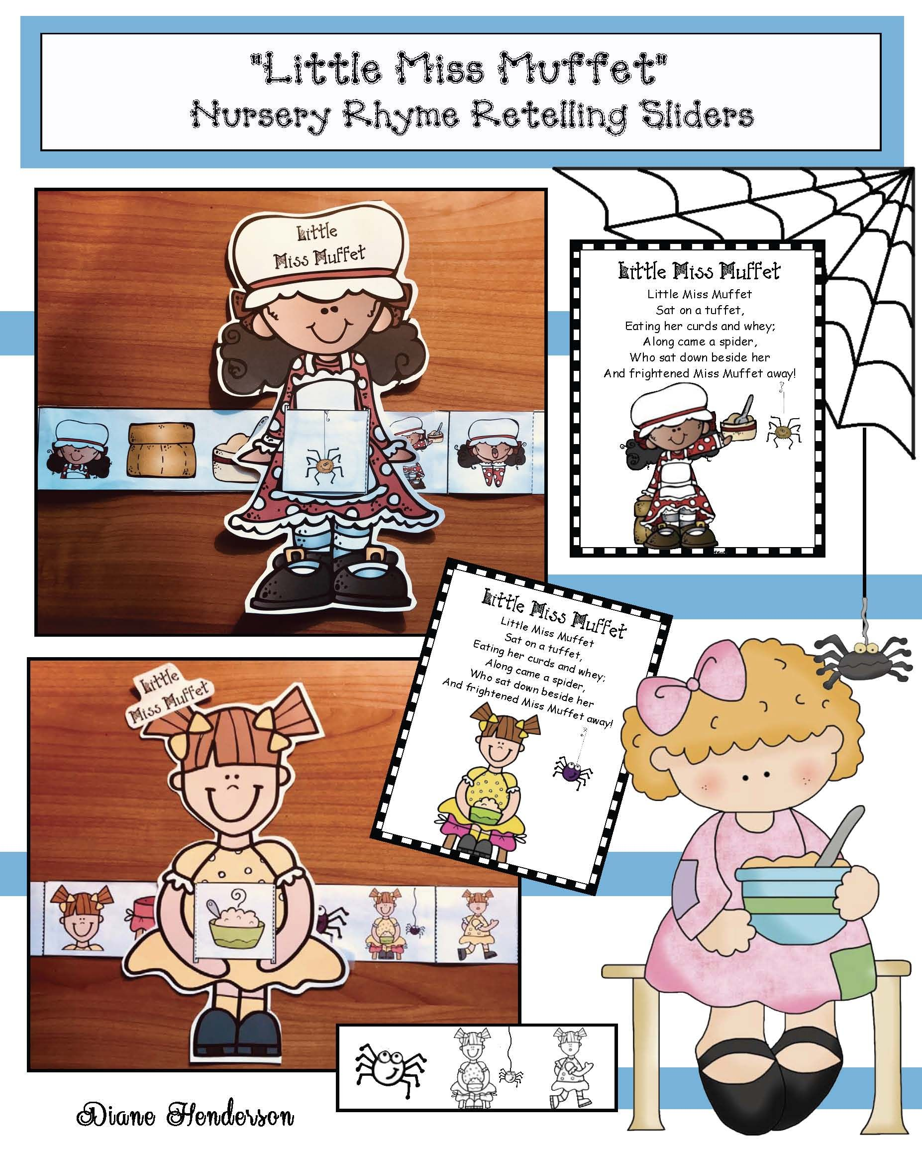 Activities For The Little Miss Muffet Nursery Rhyme