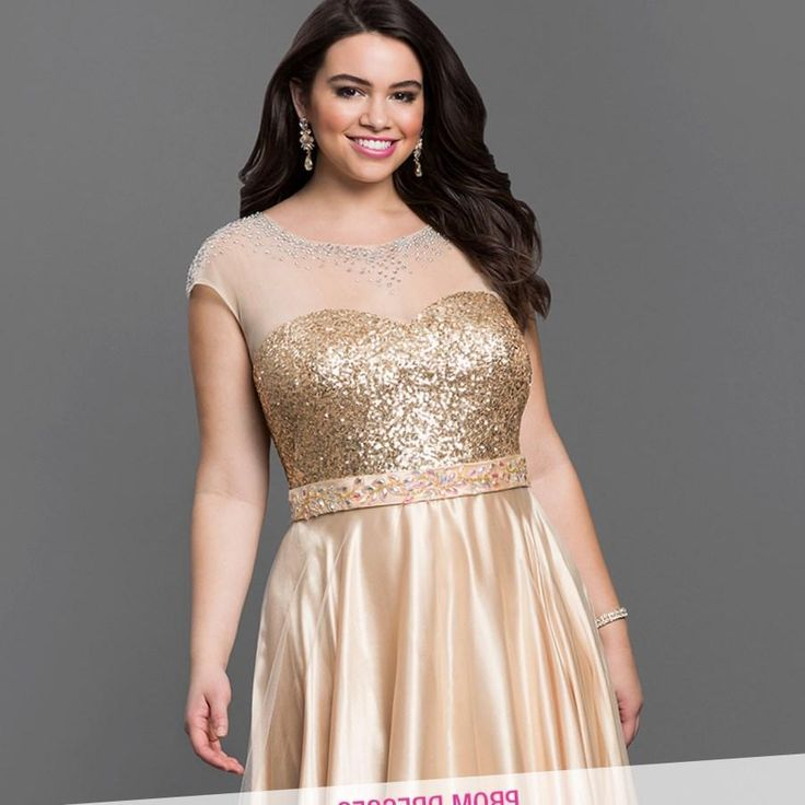 Awesome Evening Dresses Plus Size Gold Plus Size Prom Dresses
