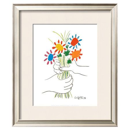 Bring gallery-worthy style home with this framed Picasso print.   Product: Framed wall artConstruction Material: