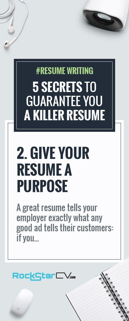 5 Secrets to Guarantee You A Killer Resume httprockstarcvcom