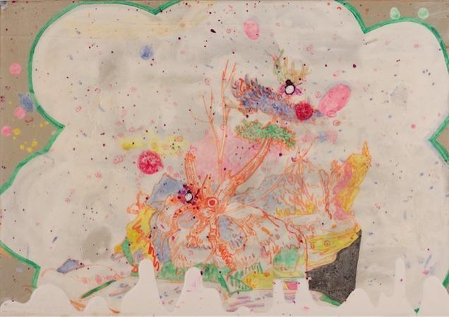 Graeme Todd Even if I Twist My Neck, 2015 Mixed Media 16 1/2 x 11 3/4 in. (41.91 x 29.85 cm) - Bridgette Mayer Gallery