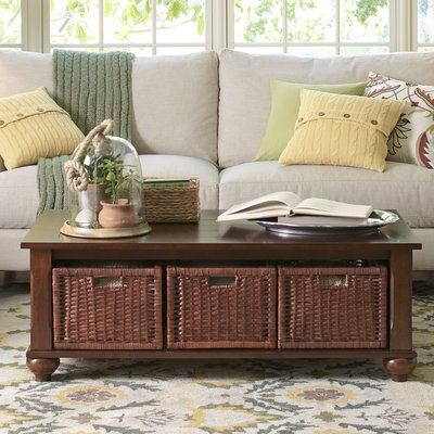 Birch Lane™ Burbank Coffee Table with Storage | Birch Lane