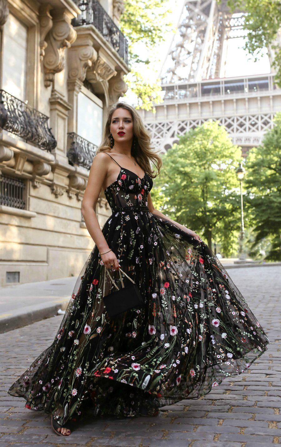 Black Tie Wedding | Best wedding guest dresses, Floral evening dresses, Boho prom dress