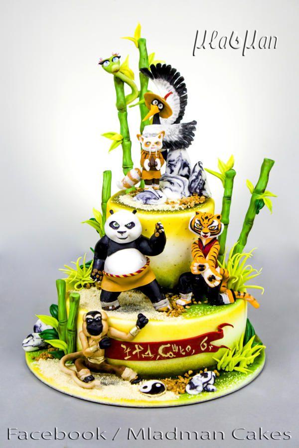 Outstanding Kung Fu Panda Cake 2 Cake By Mladman Kung Fu Panda Cake Panda Funny Birthday Cards Online Alyptdamsfinfo