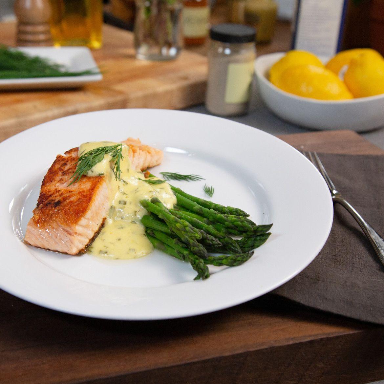 Pan Fried Salmon And Asparagus