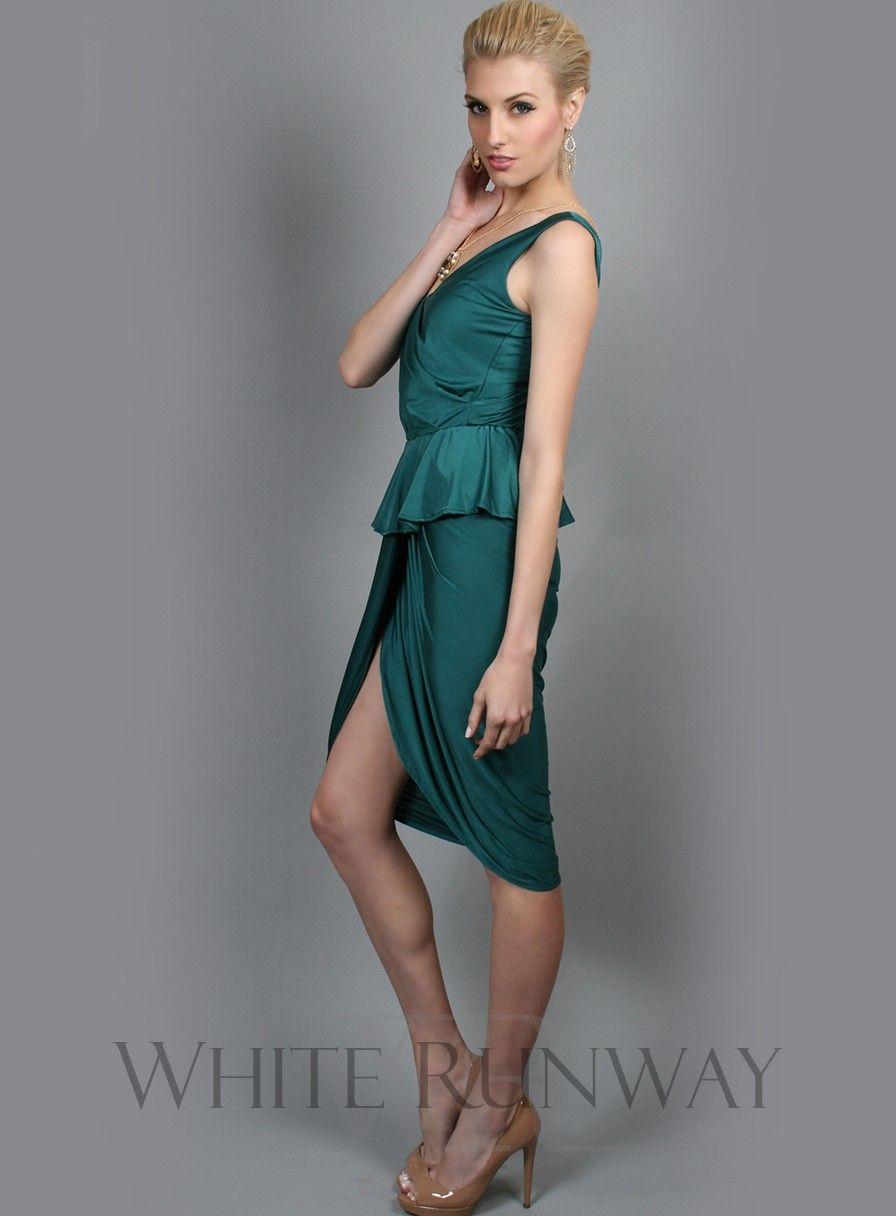 Fallon Dress by Pia Gladys Perey -- Stretchy jersey material / No zipper, just slip it on / Wrap styled skirt / Easy to wear with elastic waistband / True to size