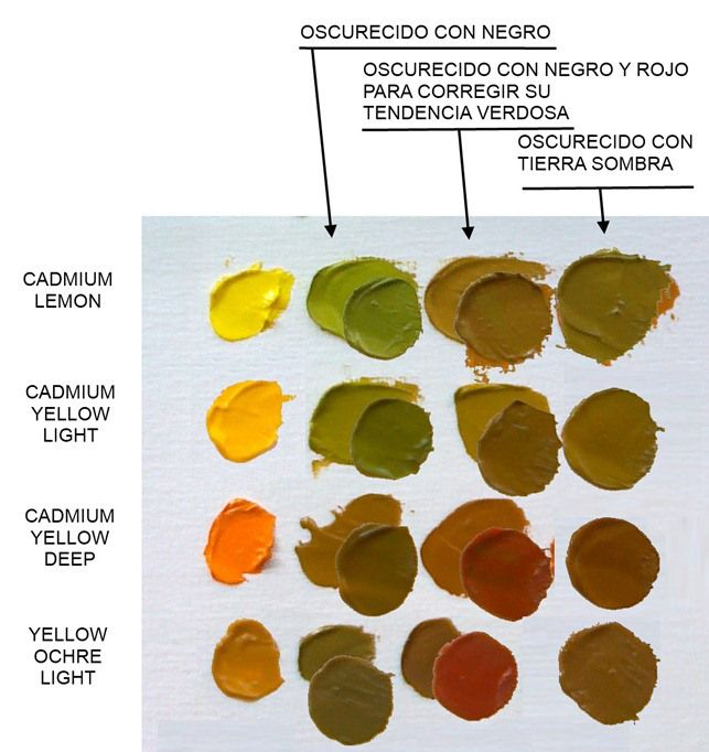 Los factores del tono i artists 39 palettes trucos de - Tonos de pintura ...