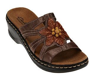 2035cdde23d Clarks Leather Slides w  Bead Detail - Lexi Myrtle