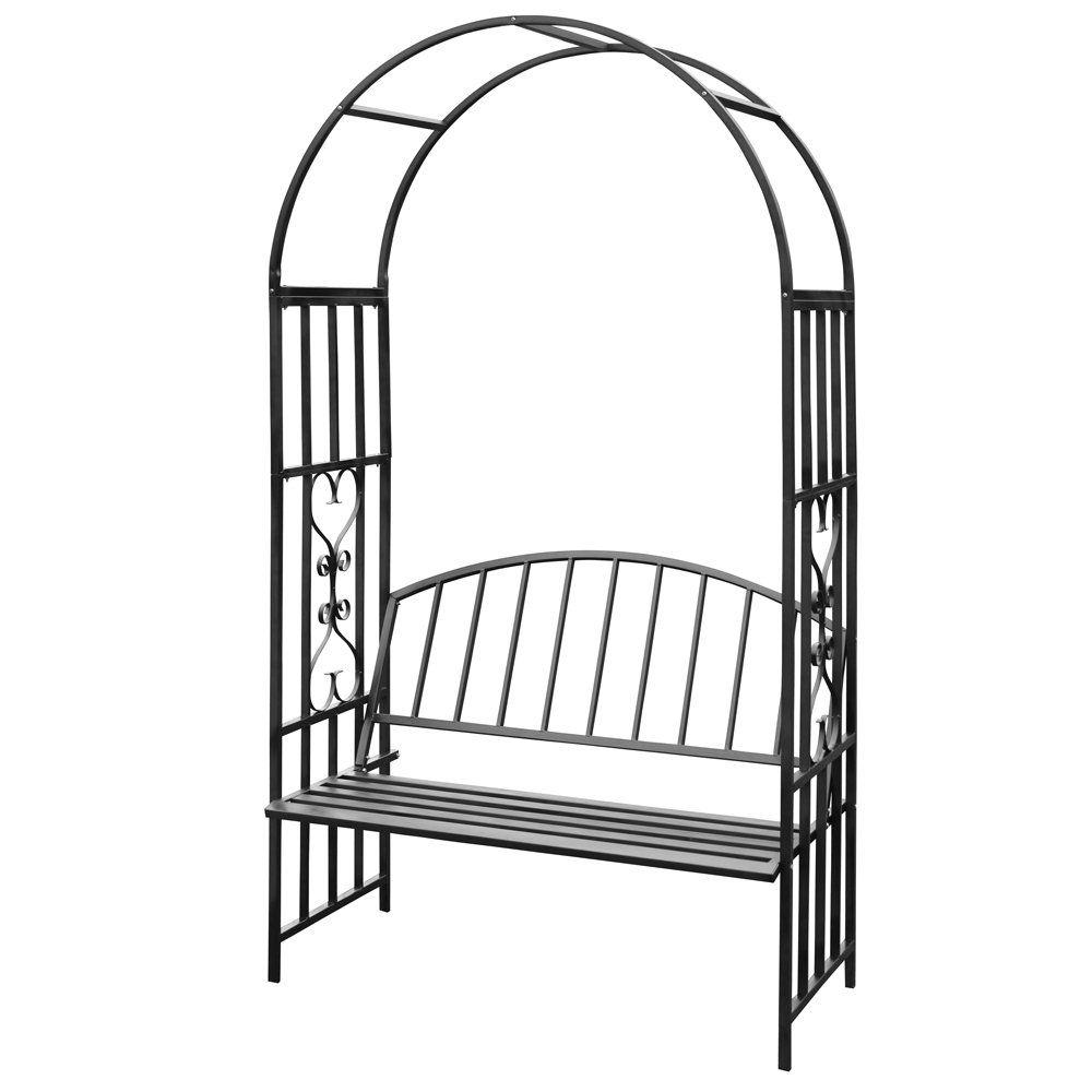 jago rosenbogen mit sitzbank schwarz garten projekt gothic garten pinterest. Black Bedroom Furniture Sets. Home Design Ideas