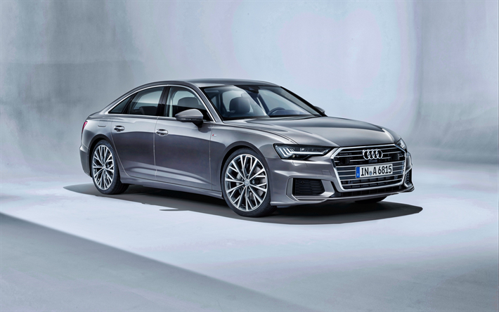 Download wallpapers Audi A6, 2019, quattro S, business class, luxury