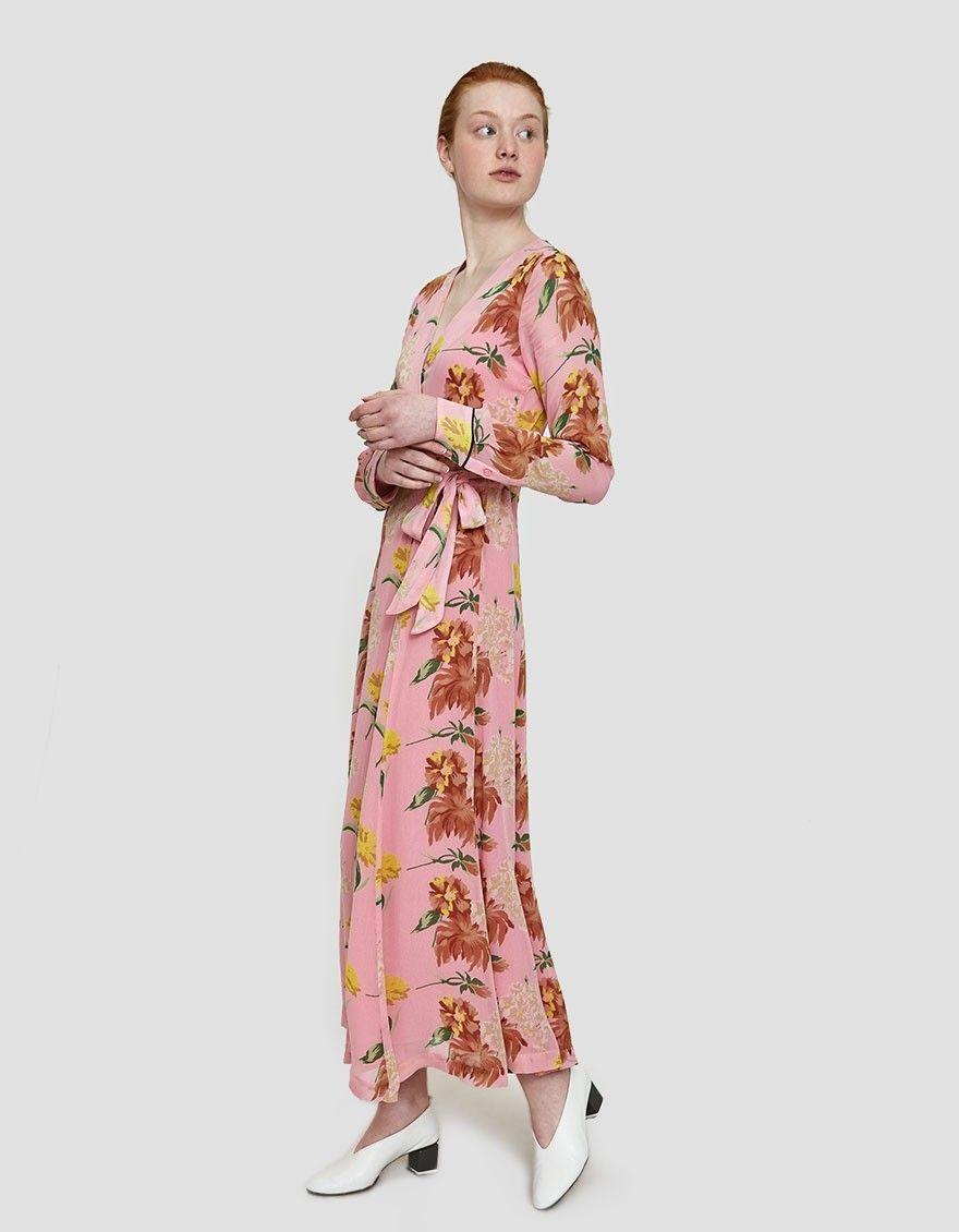 432a491fd9db6 GANNI   Marceau Georgette Maxi Dress in Sea Pink