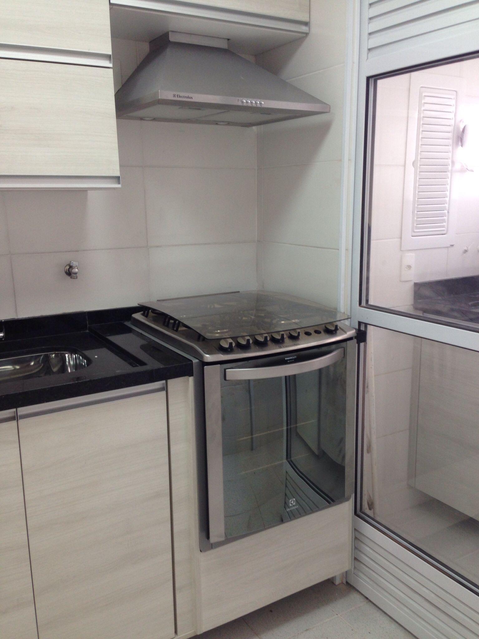 Cozinha fogão embutido e coifa [Nosso AP] Fotos da reforma  #70675B 1536 2048