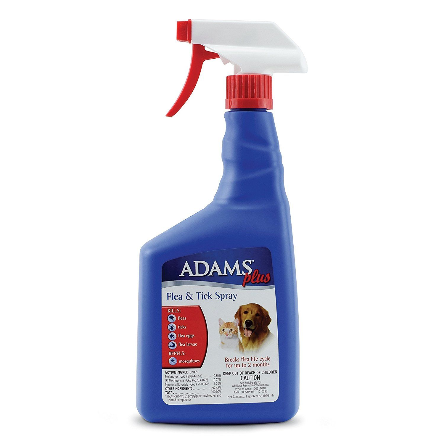 Adams Plus Flea and Tick Spray for Cats and Dogs Click