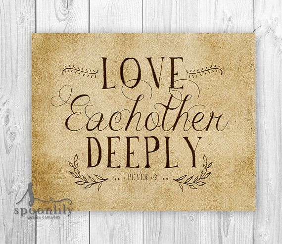 Quote Print wall decor inspirational love quotes Wall by SpoonLily ...