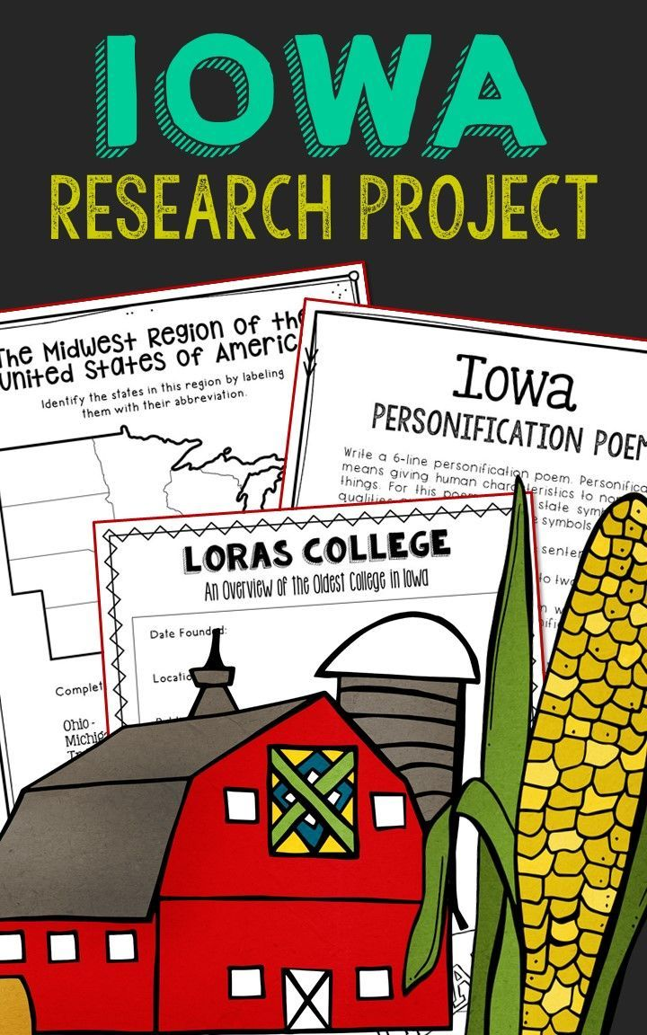 IOWA State History Research Project Social Studies