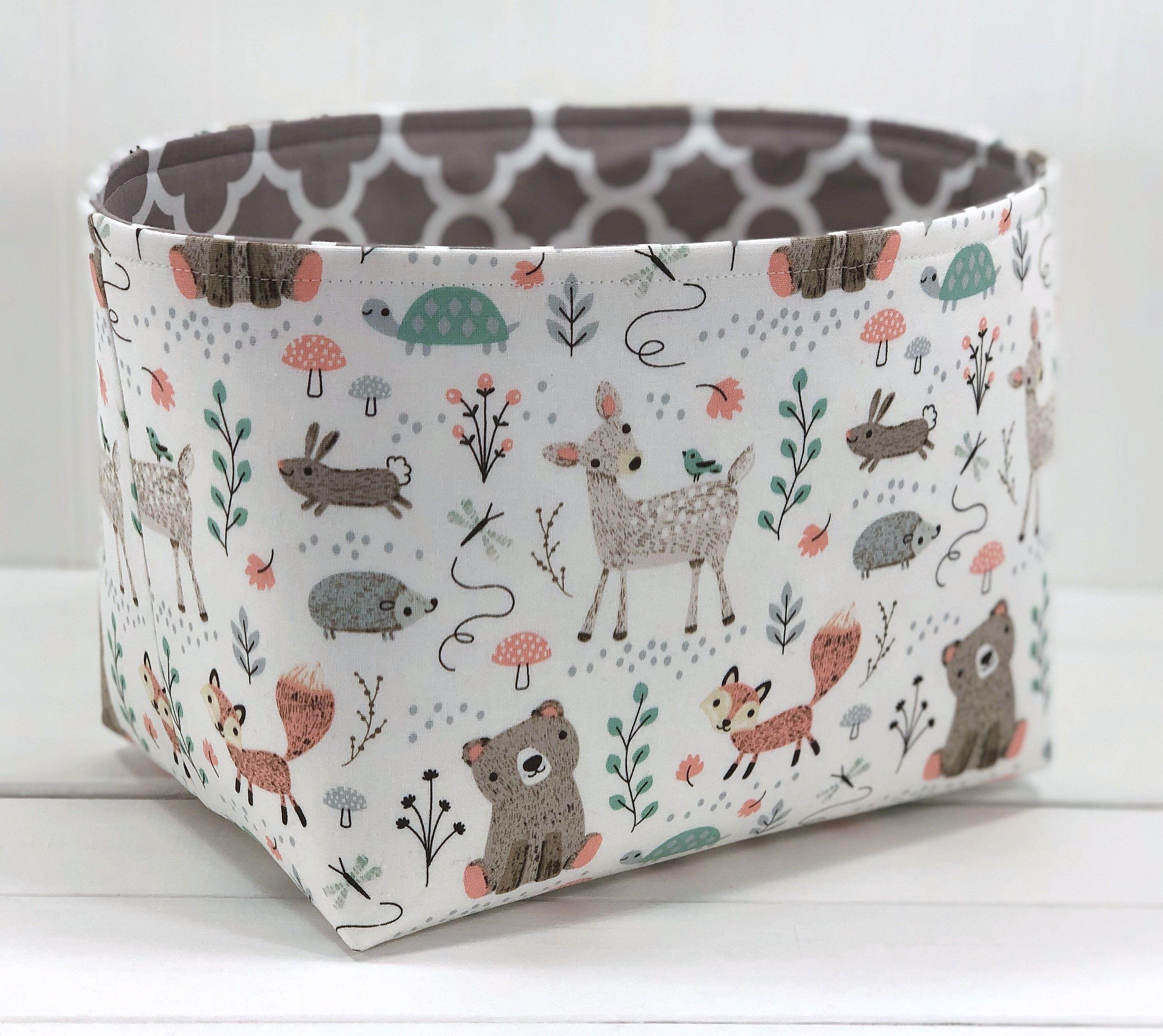 Fabric Storage Bin, Toy Storage, Nursery Storage Basket