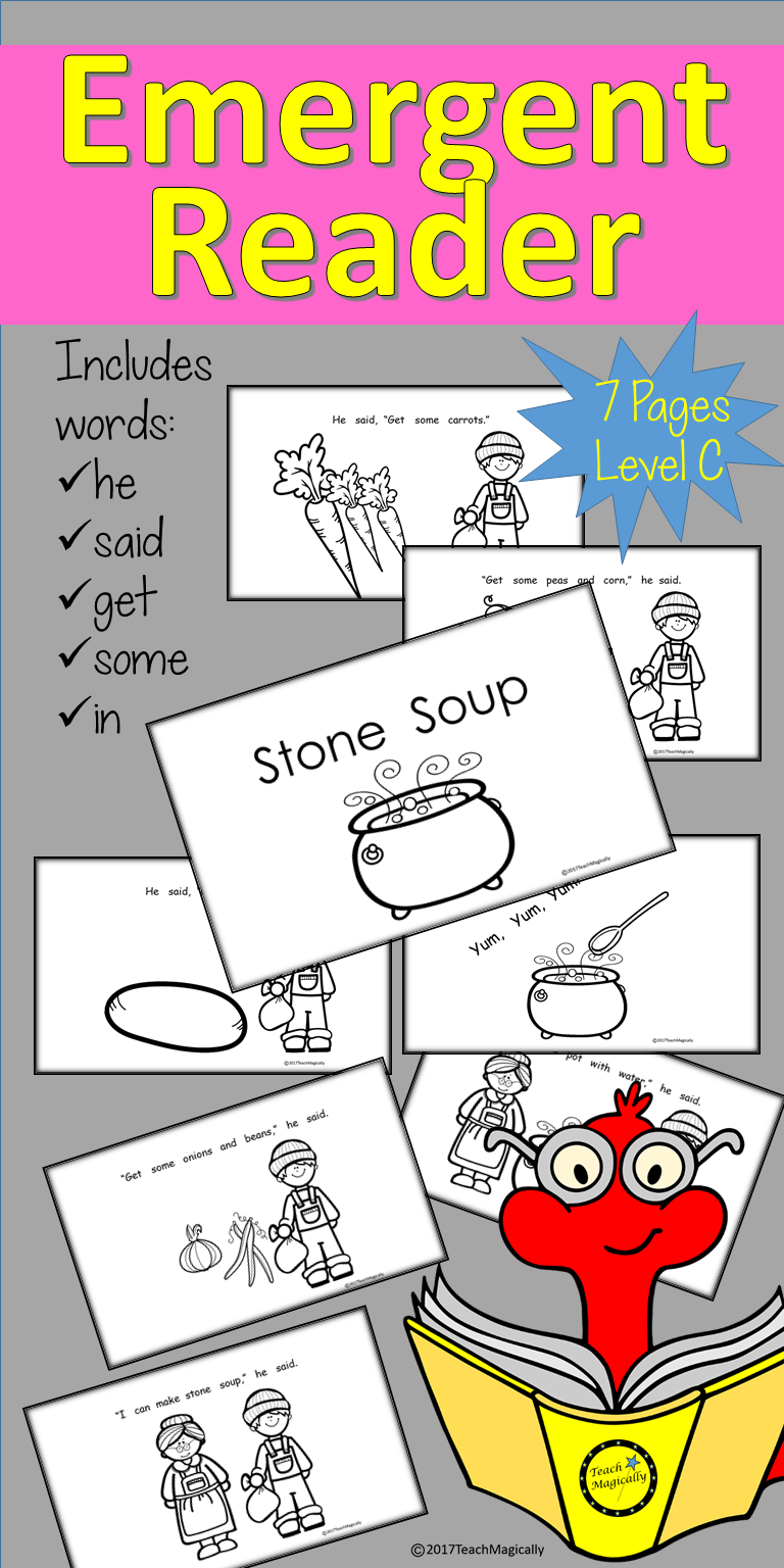 Emergent reader book stone soup emergent readers literacy and