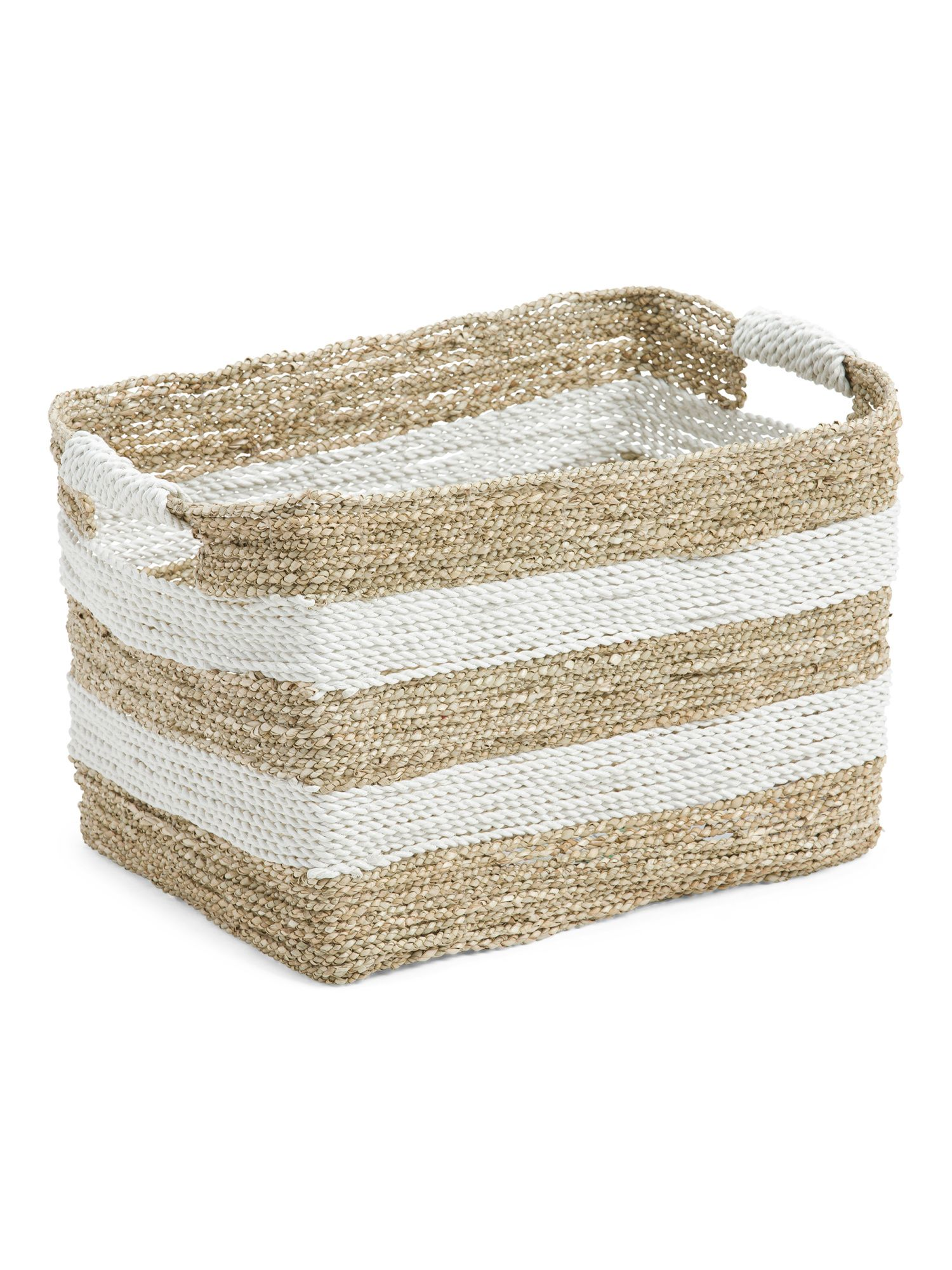 Raffia Seagrass Natural Storage Basket Storage Organization