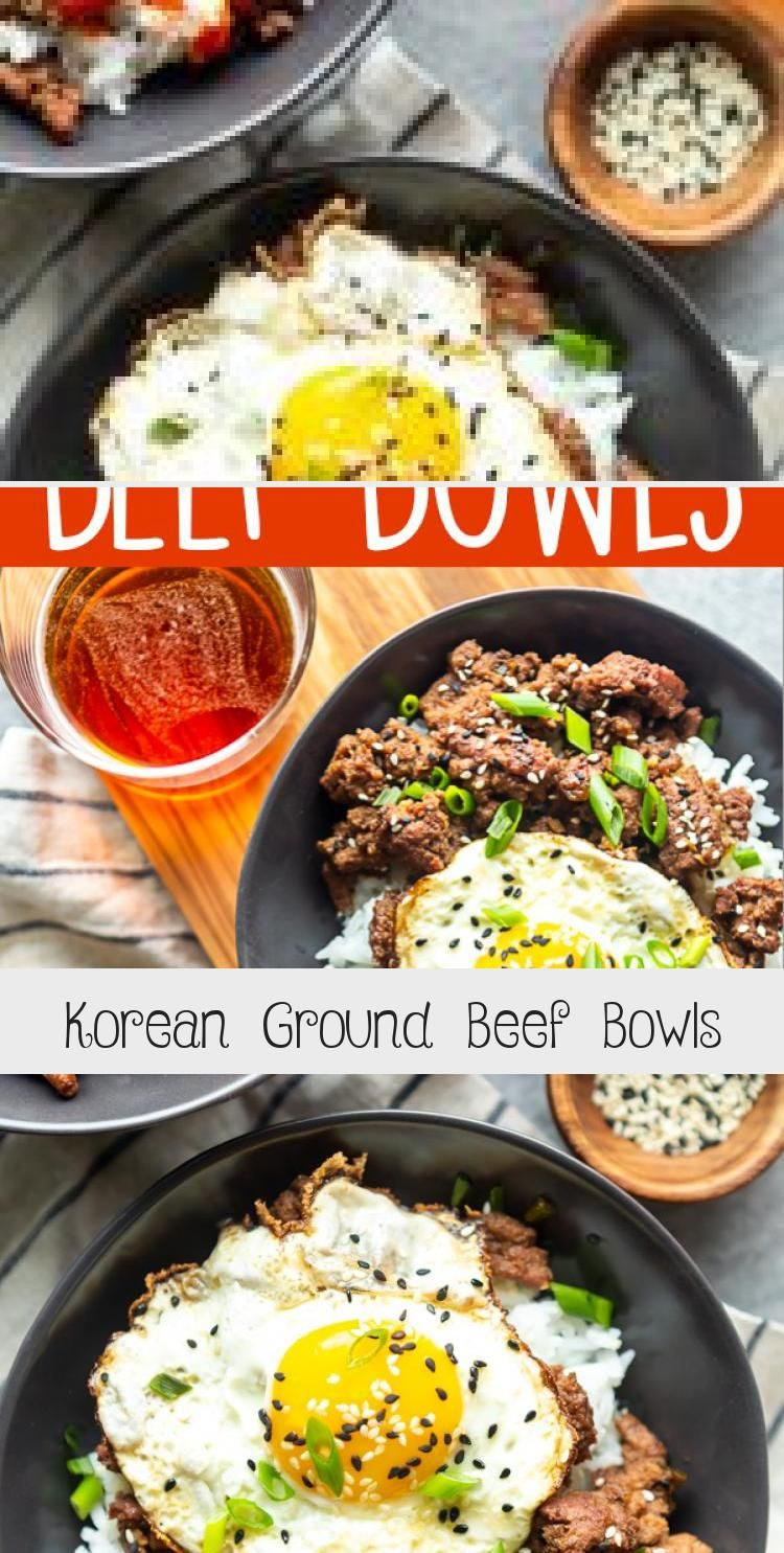 Korean Ground Beef Bowls Recipes Ground Beef Bowl Recipe Beef Recipes Quick Ground Beef Recipes