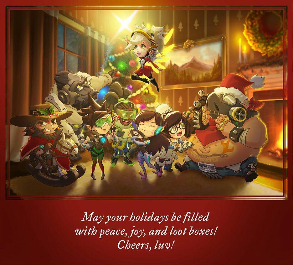 Overwatch Christmas 2019.Overwatch Christmas Wallpaper
