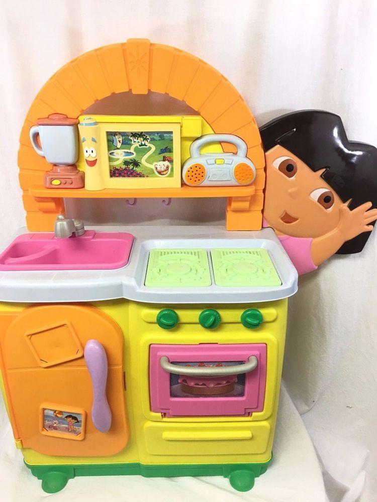 Dora Kitchen Toy : kitchen, Fisher, Price, Dora's, Talking, Kitchen, Bilingual, Phrases, Music, Sound, Touchscreen, #FisherPrice, Memories,, Childhood, Memories, 2000,, Nostalgic