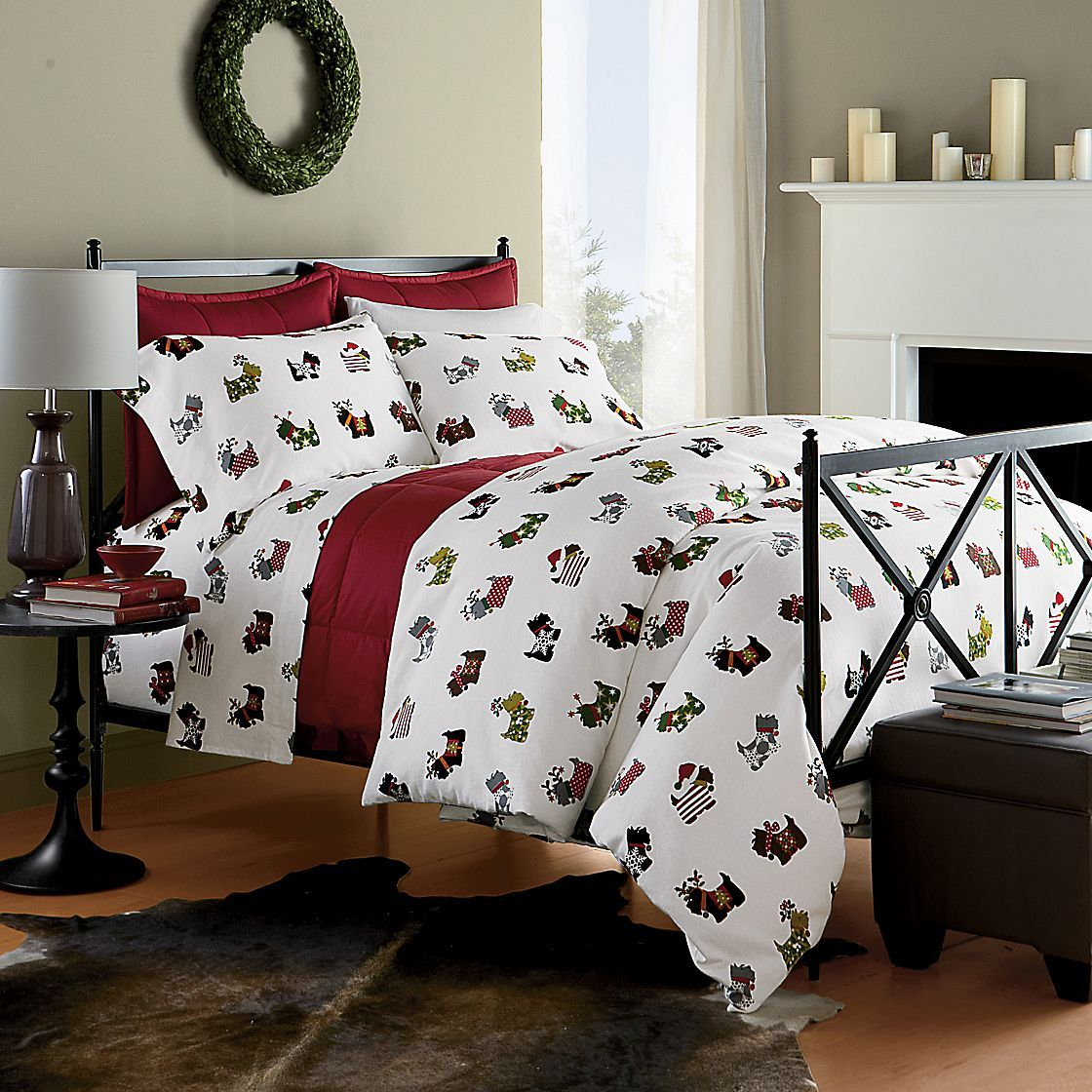 Scottie Flannel Bedding The Company Store Home bedroom