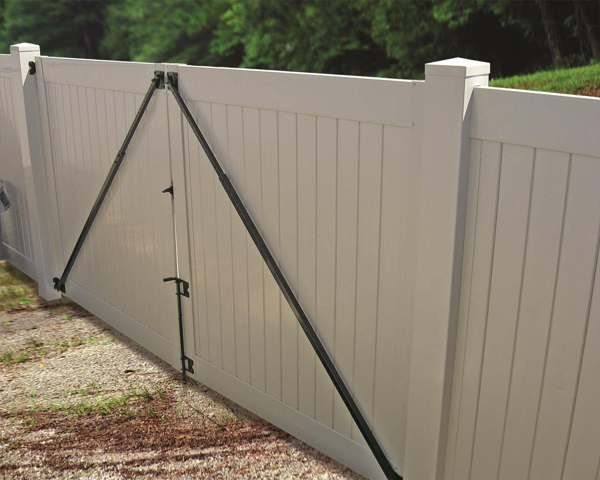 Gate Anti Sag Kit Black Single Gate Need To Order 2 For Double Gates Vinyl Fence Fence Gate Vinyl Gates