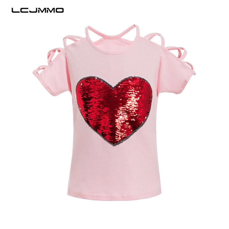 f0e03a02ef81c 2018 Summer Cotton Short Sleeves T-Shirts For Girls Tops & Tees Kids ...
