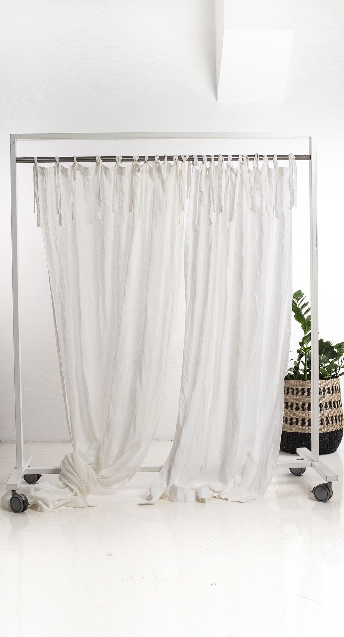 Natural Linen Curtains 16 Colors Custom Drapes Curtains With