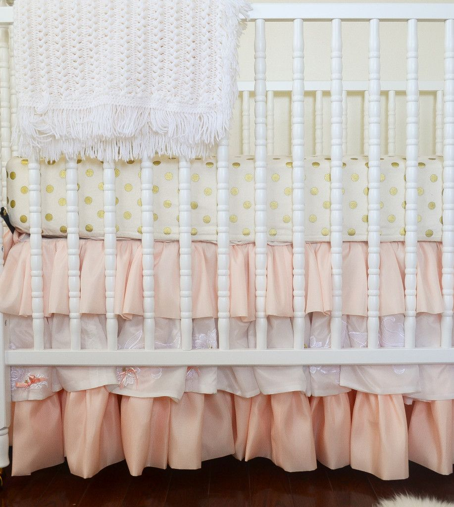 Coral And Gold Nursery Skirts Heavens And Polka Dots