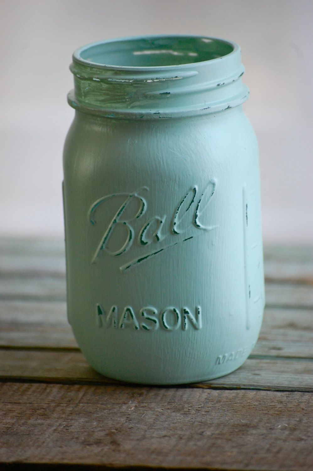 Painted mason jars in spring colors rustic by heidiewithane for
