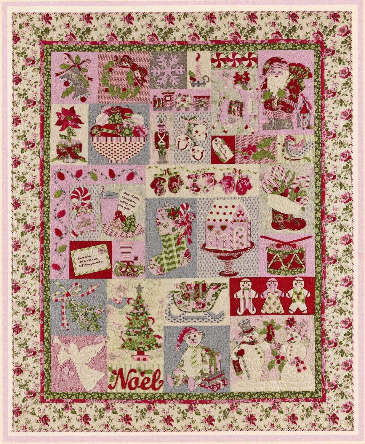 Noel Block Of The Month Quilt Pattern Christmas Applique From The