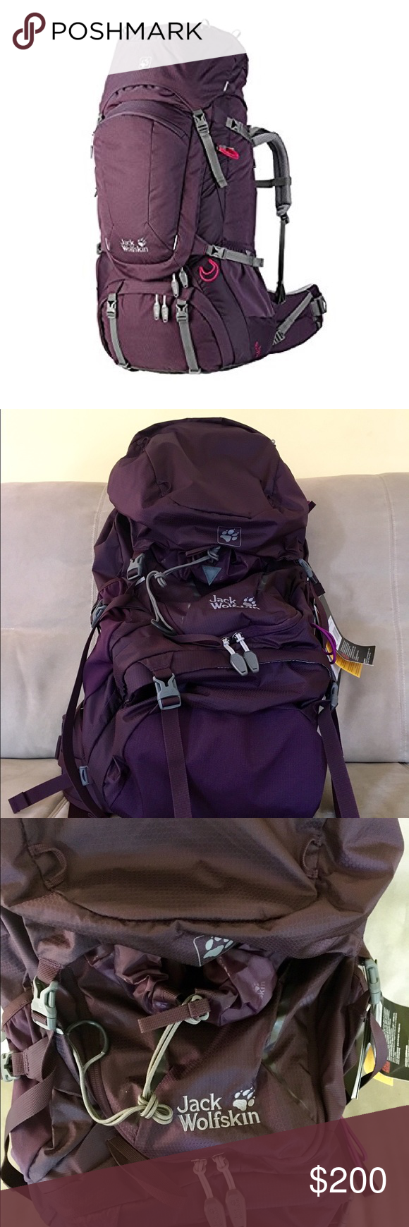 3301bf93d62 Jack Wolfskin Highland Trail XT 45 Backpacking & hiking rucksack made for  women! It is individually adjustable and extensively cushioned.