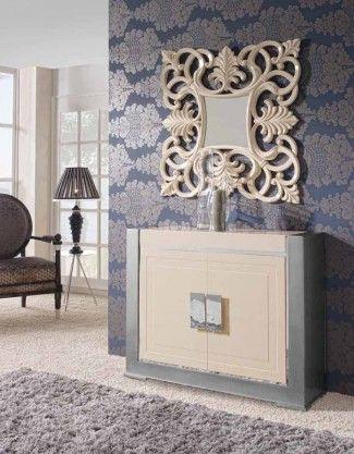 Espejos decorativos afrodita crema decoracion beltran tu for Espejos decorativos online
