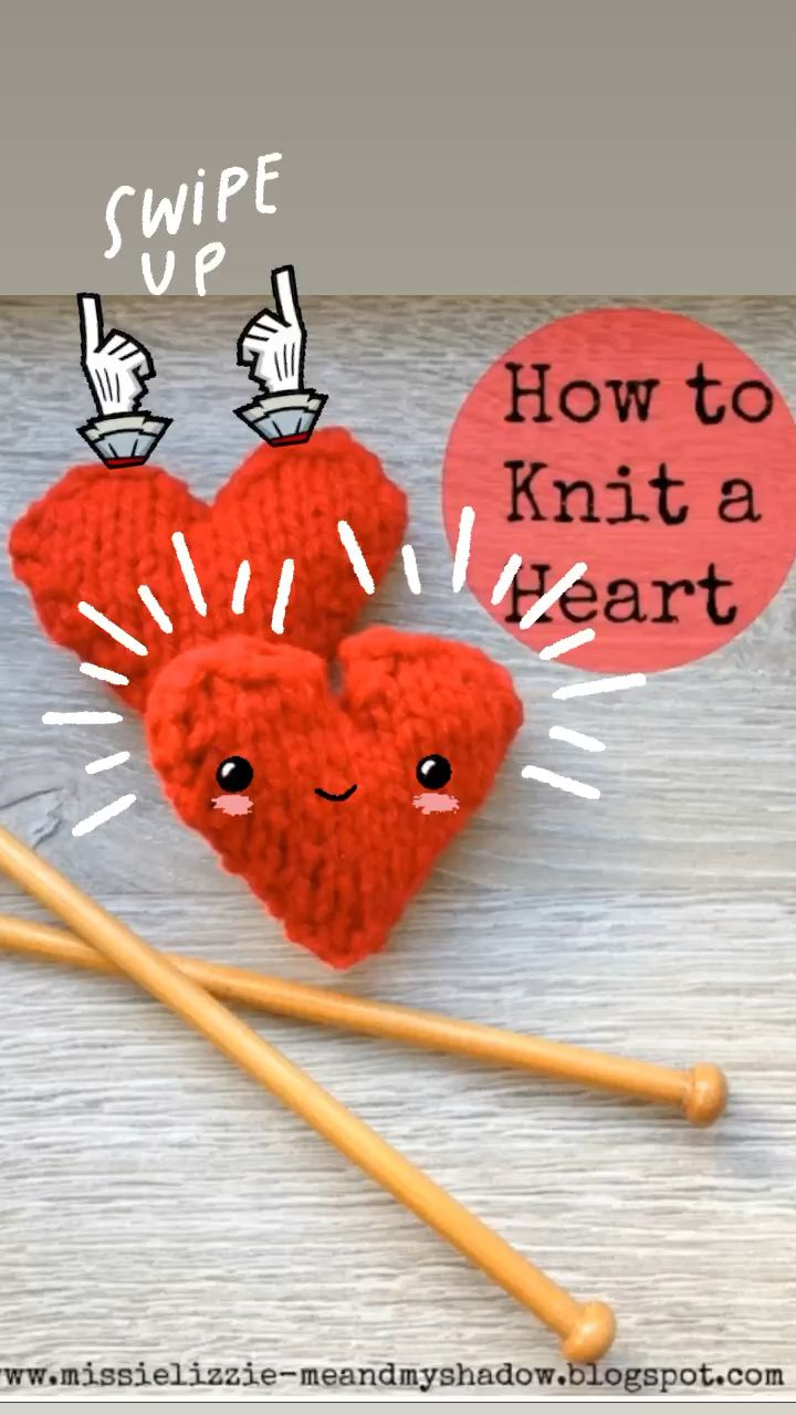 Photo of Valentines Crafts: Knitted Hearts – Red Ted Art