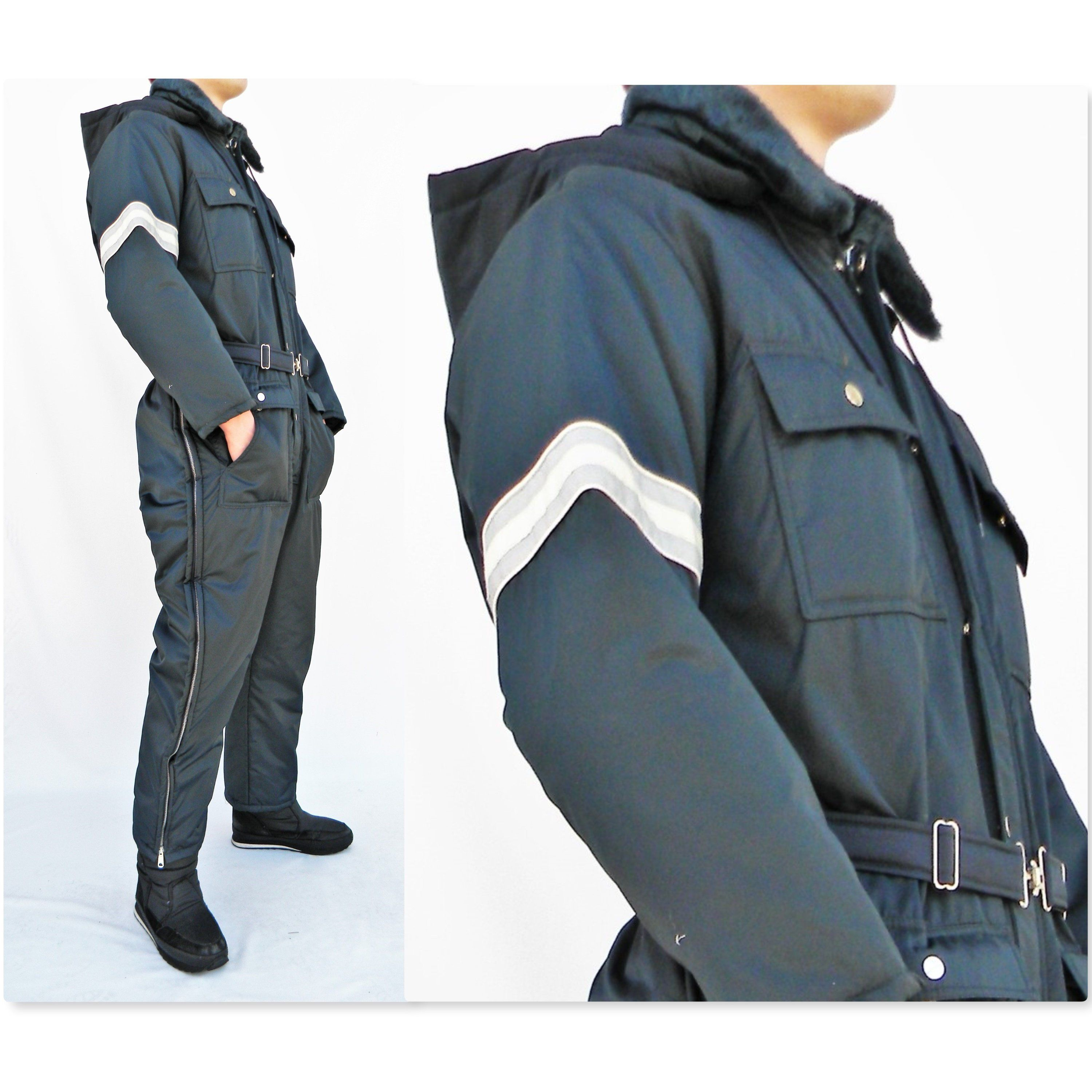 retro vintage mens lg 42 44 short one piece snowmobile on men s insulated coveralls with hood id=28841