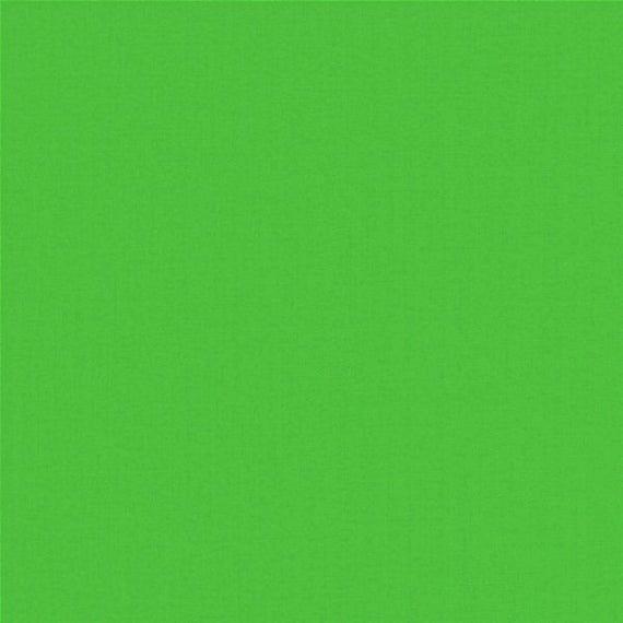 ORGANIC cotton uni limet green
