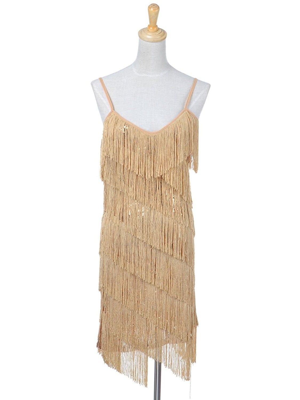 8b5950972192a Women's Clothing, Dresses, Club & Night Out,Anna-Kaci Womens Fringe Sequin  Strap Backless 1920s Flapper Party Mini Dress - Gold - CK11EWQD18N #Clothing  ...