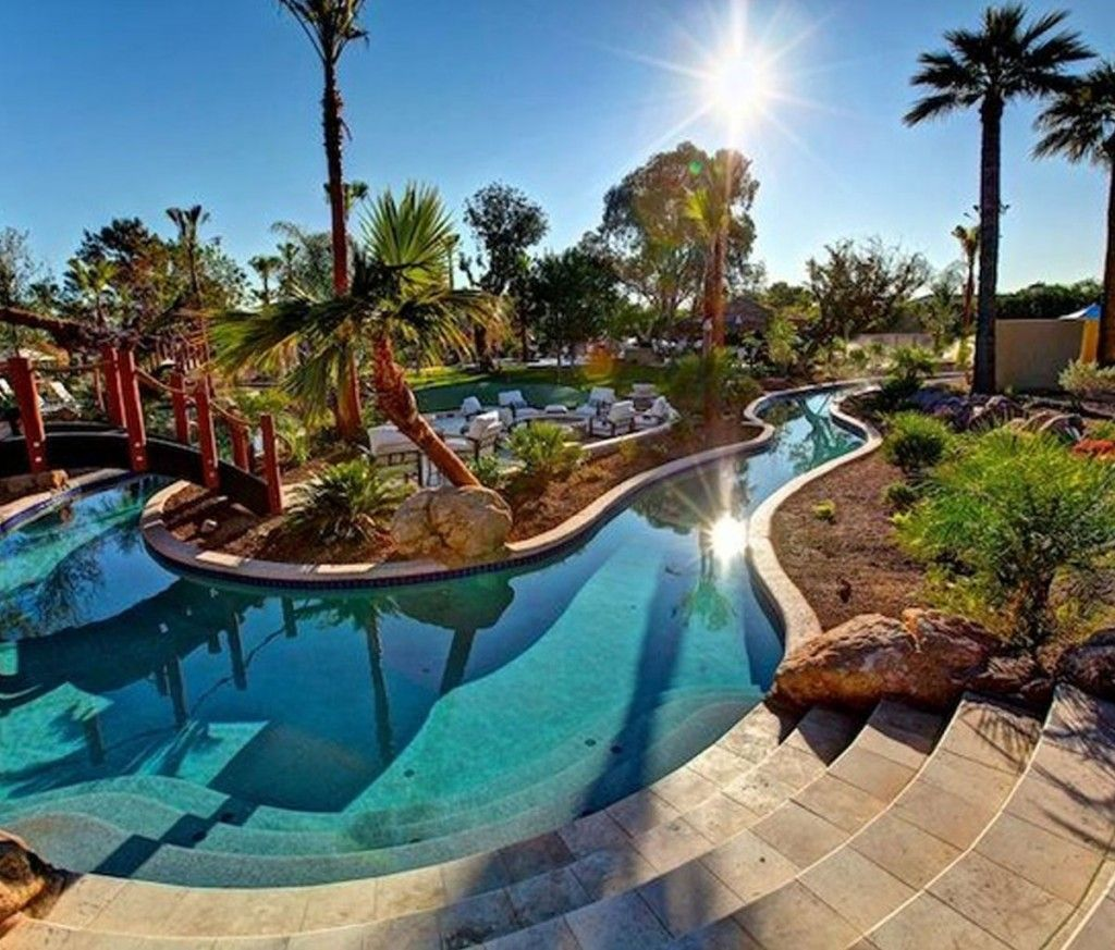Lazy river backyard pool ideas fashion furniture for Pool designs for large backyards