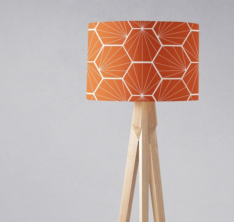Orange Lamp Shade For Table Lamp Floor Lamp Or Ceiling Light