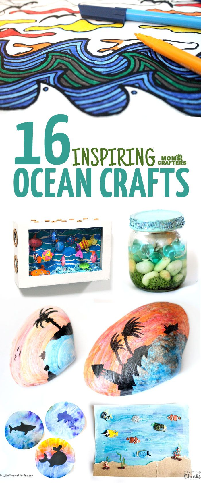 Teen Ocean Themed Bedroom: Moms And Crafters: On The Blog
