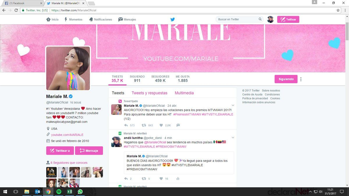 Mariale M. (@MarialeOficial) | Twitter