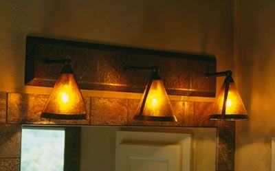 Mexican Bathroom Lighting Fixtures Hammered Copper And